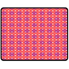 Roll Circle Plaid Triangle Red Pink White Wave Chevron Fleece Blanket (medium)  by Alisyart