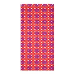 Roll Circle Plaid Triangle Red Pink White Wave Chevron Shower Curtain 36  X 72  (stall)  by Alisyart