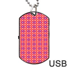 Roll Circle Plaid Triangle Red Pink White Wave Chevron Dog Tag Usb Flash (one Side) by Alisyart