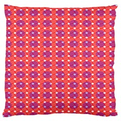 Roll Circle Plaid Triangle Red Pink White Wave Chevron Large Cushion Case (two Sides)