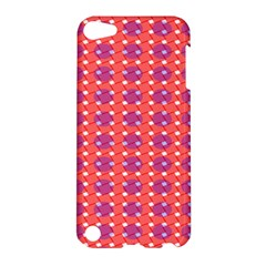 Roll Circle Plaid Triangle Red Pink White Wave Chevron Apple Ipod Touch 5 Hardshell Case