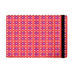 Roll Circle Plaid Triangle Red Pink White Wave Chevron Apple Ipad Mini Flip Case by Alisyart