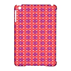 Roll Circle Plaid Triangle Red Pink White Wave Chevron Apple Ipad Mini Hardshell Case (compatible With Smart Cover) by Alisyart