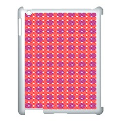 Roll Circle Plaid Triangle Red Pink White Wave Chevron Apple Ipad 3/4 Case (white)