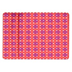 Roll Circle Plaid Triangle Red Pink White Wave Chevron Samsung Galaxy Tab 10 1  P7500 Flip Case
