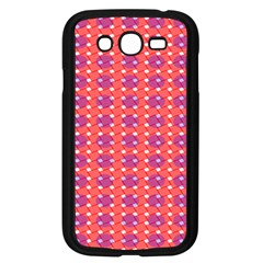 Roll Circle Plaid Triangle Red Pink White Wave Chevron Samsung Galaxy Grand Duos I9082 Case (black)