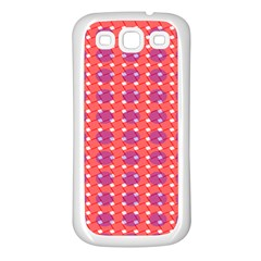 Roll Circle Plaid Triangle Red Pink White Wave Chevron Samsung Galaxy S3 Back Case (white)