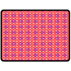 Roll Circle Plaid Triangle Red Pink White Wave Chevron Double Sided Fleece Blanket (large)  by Alisyart
