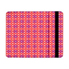 Roll Circle Plaid Triangle Red Pink White Wave Chevron Samsung Galaxy Tab Pro 8 4  Flip Case by Alisyart