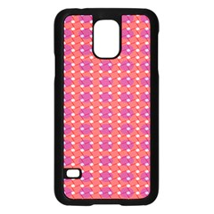 Roll Circle Plaid Triangle Red Pink White Wave Chevron Samsung Galaxy S5 Case (black) by Alisyart