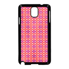 Roll Circle Plaid Triangle Red Pink White Wave Chevron Samsung Galaxy Note 3 Neo Hardshell Case (black)