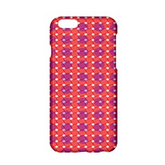 Roll Circle Plaid Triangle Red Pink White Wave Chevron Apple Iphone 6/6s Hardshell Case