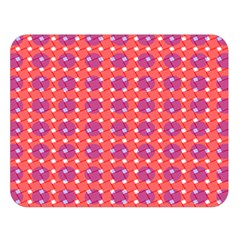Roll Circle Plaid Triangle Red Pink White Wave Chevron Double Sided Flano Blanket (large)  by Alisyart