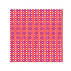 Roll Circle Plaid Triangle Red Pink White Wave Chevron Small Satin Scarf (square) by Alisyart