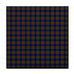 Tartan Fabrik Plaid Color Rainbow Tile Coasters by Alisyart