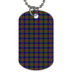 Tartan Fabrik Plaid Color Rainbow Dog Tag (one Side) by Alisyart
