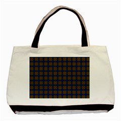 Tartan Fabrik Plaid Color Rainbow Basic Tote Bag (two Sides) by Alisyart