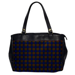 Tartan Fabrik Plaid Color Rainbow Office Handbags by Alisyart