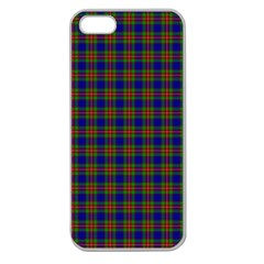Tartan Fabrik Plaid Color Rainbow Apple Seamless Iphone 5 Case (clear) by Alisyart