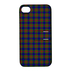 Tartan Fabrik Plaid Color Rainbow Apple Iphone 4/4s Hardshell Case With Stand