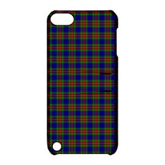 Tartan Fabrik Plaid Color Rainbow Apple Ipod Touch 5 Hardshell Case With Stand