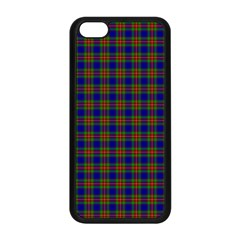 Tartan Fabrik Plaid Color Rainbow Apple Iphone 5c Seamless Case (black) by Alisyart