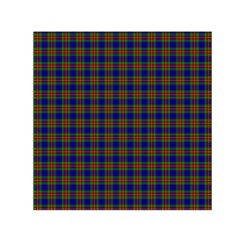 Tartan Fabrik Plaid Color Rainbow Small Satin Scarf (square) by Alisyart