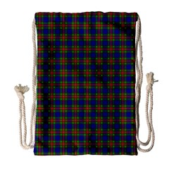 Tartan Fabrik Plaid Color Rainbow Drawstring Bag (large) by Alisyart