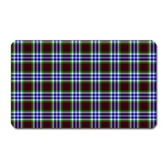 Tartan Fabrik Plaid Color Rainbow Triangle Magnet (rectangular)