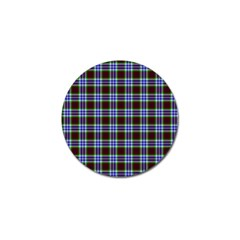Tartan Fabrik Plaid Color Rainbow Triangle Golf Ball Marker (4 Pack) by Alisyart