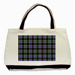 Tartan Fabrik Plaid Color Rainbow Triangle Basic Tote Bag by Alisyart