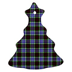 Tartan Fabrik Plaid Color Rainbow Triangle Ornament (christmas Tree)  by Alisyart