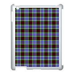 Tartan Fabrik Plaid Color Rainbow Triangle Apple Ipad 3/4 Case (white)