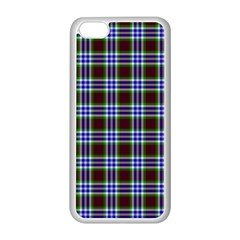 Tartan Fabrik Plaid Color Rainbow Triangle Apple Iphone 5c Seamless Case (white) by Alisyart