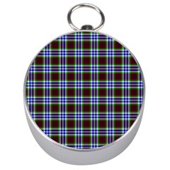 Tartan Fabrik Plaid Color Rainbow Triangle Silver Compasses