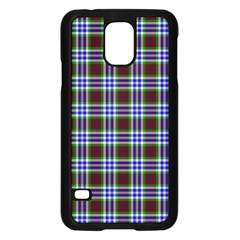 Tartan Fabrik Plaid Color Rainbow Triangle Samsung Galaxy S5 Case (black)