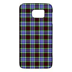 Tartan Fabrik Plaid Color Rainbow Triangle Galaxy S6