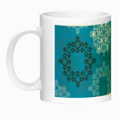 Flower Star Blue Sky Plaid White Froz Snow Night Luminous Mugs