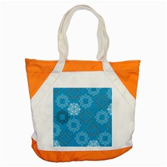 Flower Star Blue Sky Plaid White Froz Snow Accent Tote Bag by Alisyart