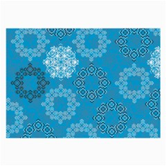 Flower Star Blue Sky Plaid White Froz Snow Large Glasses Cloth (2 Side) by Alisyart