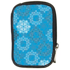 Flower Star Blue Sky Plaid White Froz Snow Compact Camera Cases by Alisyart