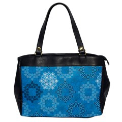 Flower Star Blue Sky Plaid White Froz Snow Office Handbags by Alisyart
