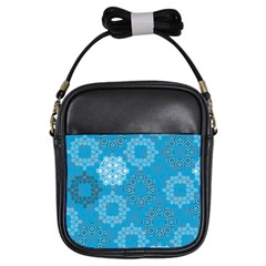 Flower Star Blue Sky Plaid White Froz Snow Girls Sling Bags by Alisyart