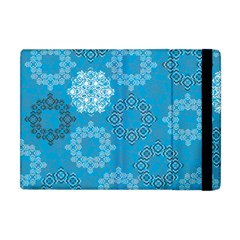 Flower Star Blue Sky Plaid White Froz Snow Apple Ipad Mini Flip Case by Alisyart