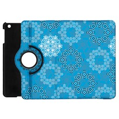 Flower Star Blue Sky Plaid White Froz Snow Apple Ipad Mini Flip 360 Case by Alisyart