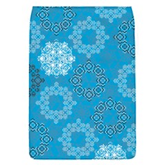 Flower Star Blue Sky Plaid White Froz Snow Flap Covers (s)  by Alisyart