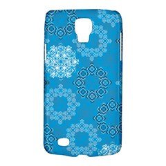 Flower Star Blue Sky Plaid White Froz Snow Galaxy S4 Active