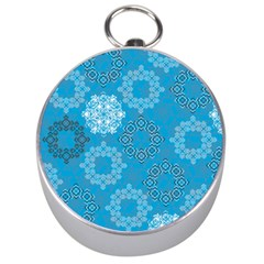 Flower Star Blue Sky Plaid White Froz Snow Silver Compasses