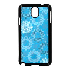 Flower Star Blue Sky Plaid White Froz Snow Samsung Galaxy Note 3 Neo Hardshell Case (black)
