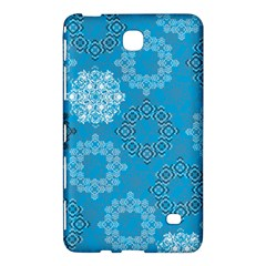 Flower Star Blue Sky Plaid White Froz Snow Samsung Galaxy Tab 4 (8 ) Hardshell Case  by Alisyart